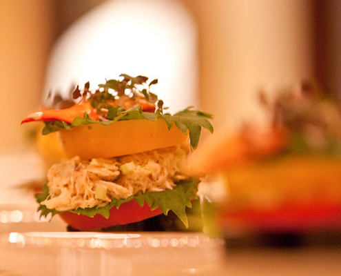 Crab & Lobster Tower with Heirloom Tomatoes