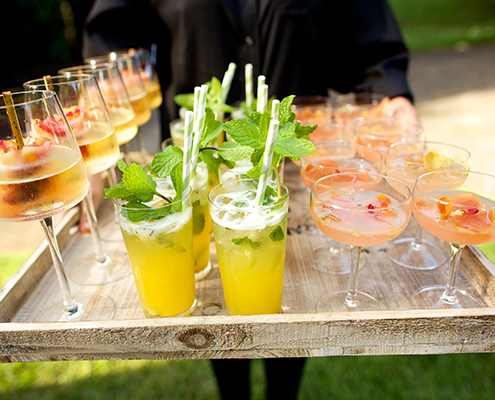 refreshing cocktails greet guests upon arrival