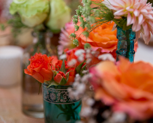 country flower arrangements