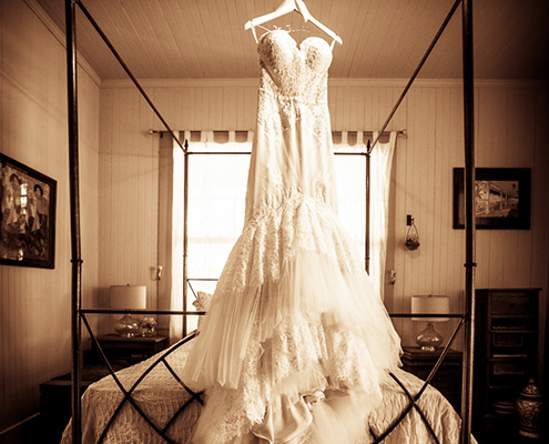 The bridal gown