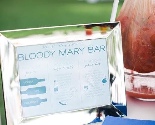 Colin Cowie Wedding Brunch Bloody Mary Bar