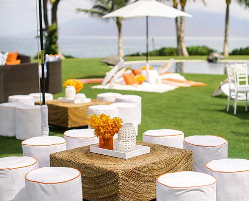 Colin Cowie Wedding Brunch Lounge Area by Ocean