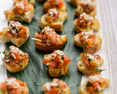 Colin Cowie Wedding Reception Bruschetta
