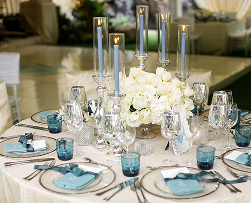 Colin Cowie Wedding Reception Table Setting