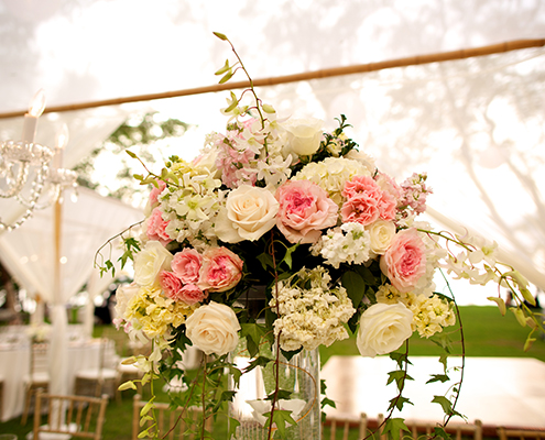 Wedding Reception Floral Arrangement