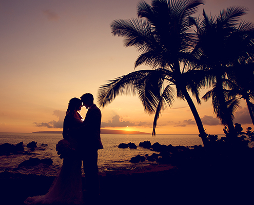 Wedding Reception Romantic Sunset