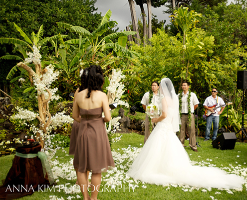 Wedding with White Flower Aisle